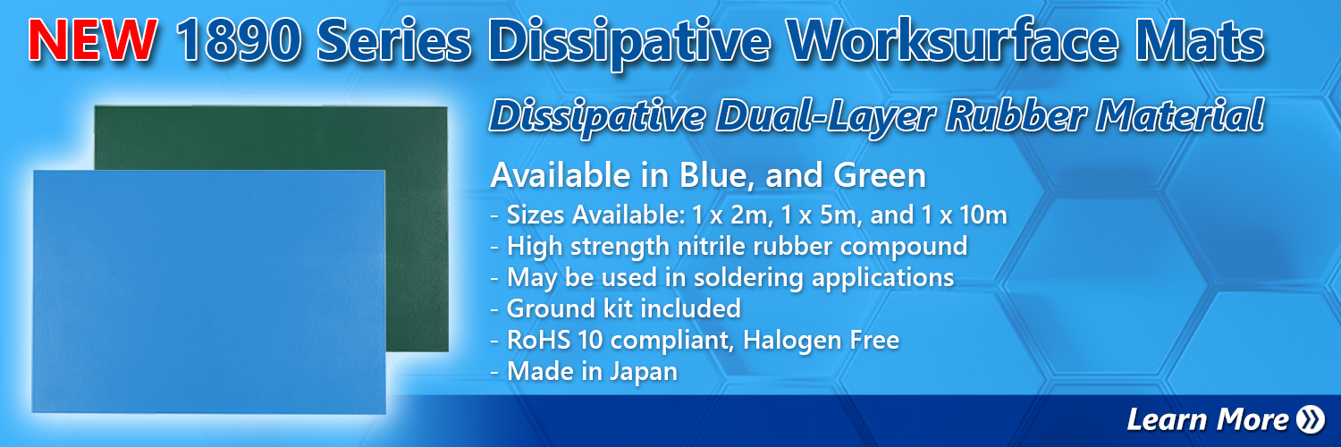 1890 Series Dissipative Worksurface Mats