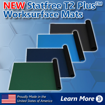 Statfree T2 Plus Dissipative Dual Layer Rubber Mats